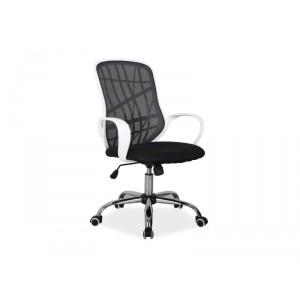 Кресло компьютерное SIGNAL DEXTER черно/белое