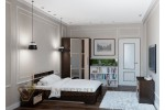 Кровать SV-МЕБЕЛЬ (Спальня Эдем 2 К) Дуб Венге/Дуб млечный 160/200