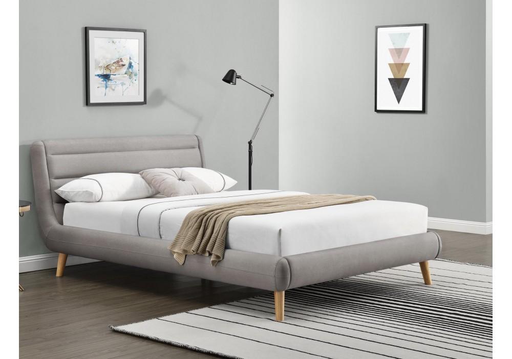 Кровать HALMAR ELANDA светло-серый, 140/200