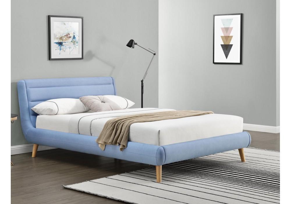Кровать HALMAR ELANDA синий, 140/200