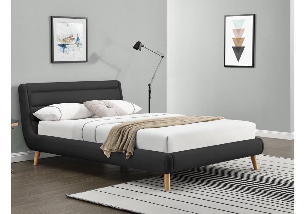 Кровать HALMAR ELANDA темно-серый, 140/200