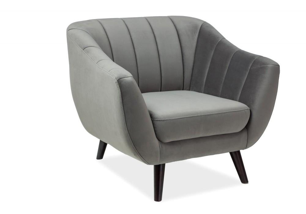 Кресло SIGNAL ELITE 1 VELVET Bluvel14, серый
