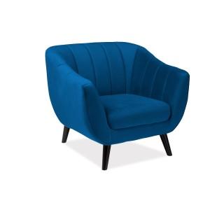 Кресло SIGNAL ELITE 1 VELVET Bluvel86, темно-синий