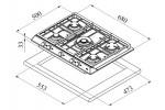 Газовая варочная панель TEKA EX/70.1 5G AI AL DR CI
