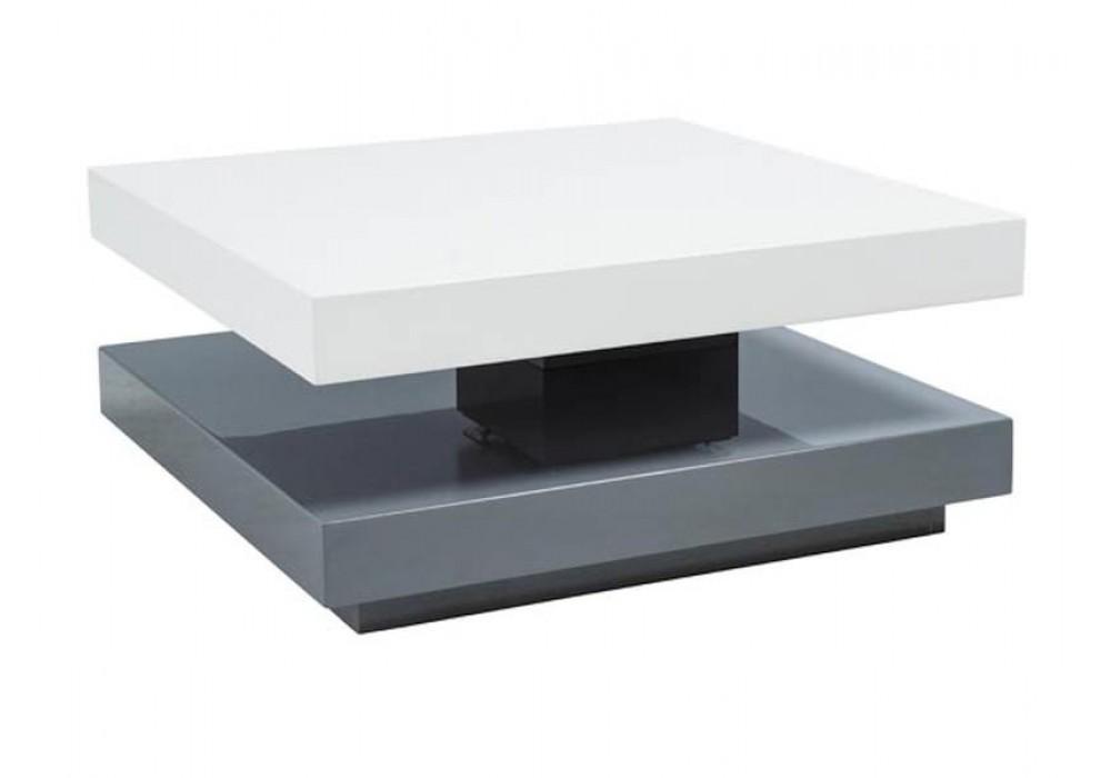 Стол журнальный SIGNAL FALON раскладной, белый\серый 75-105/75/34