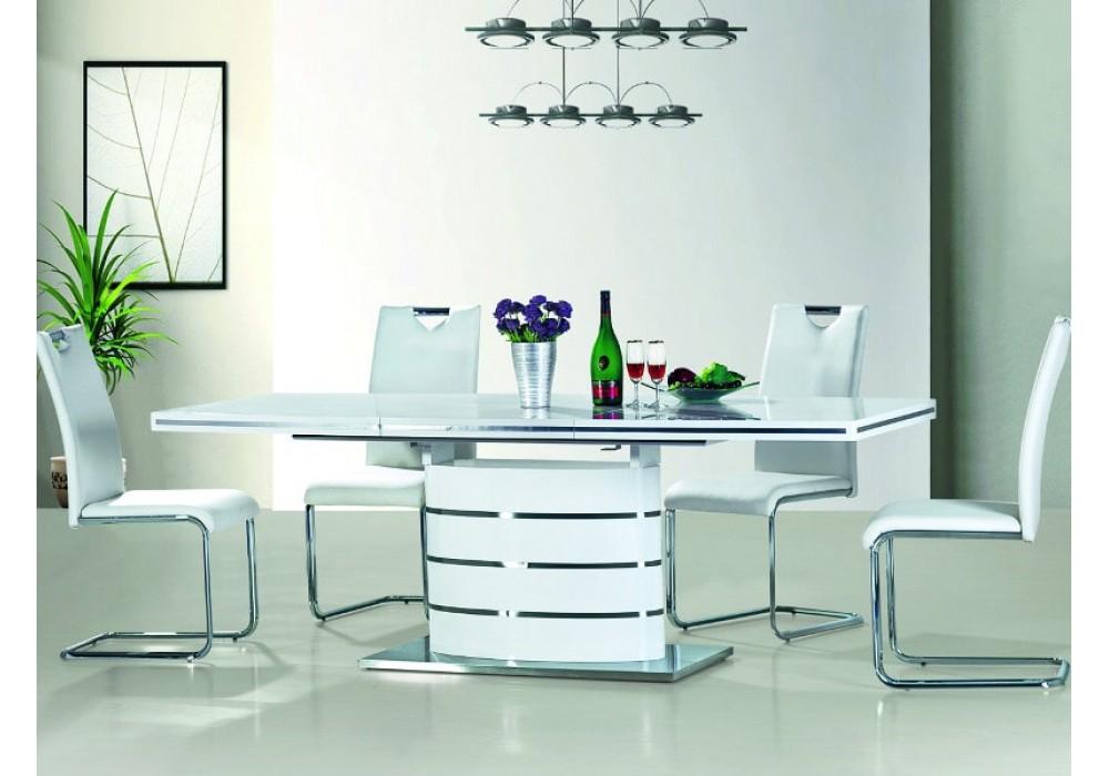 Стол обеденный SIGNAL FANO 120 белый лак, 120-180/80/77