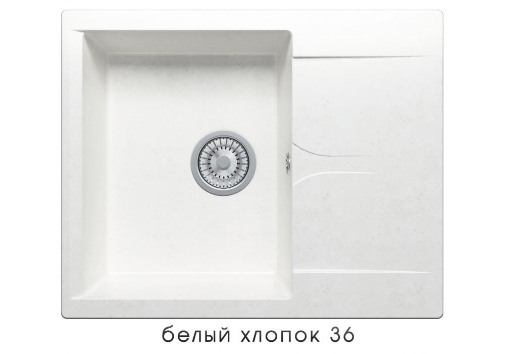 Мойка POLYGRAN GALS-620 №36 белый хлопок