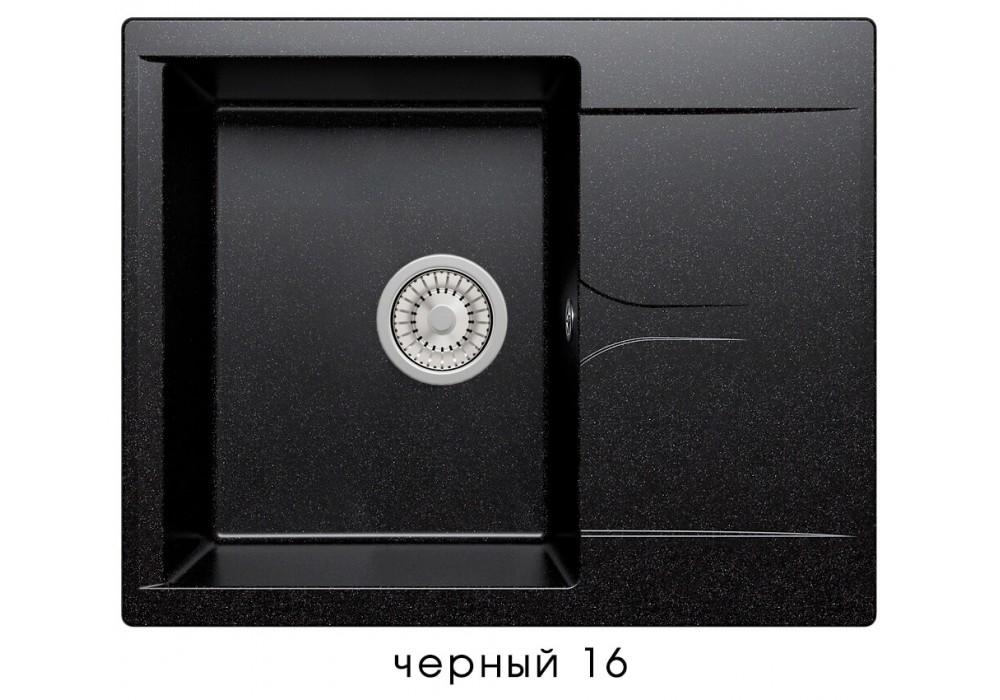 Мойка POLYGRAN GALS-620 №16 черный