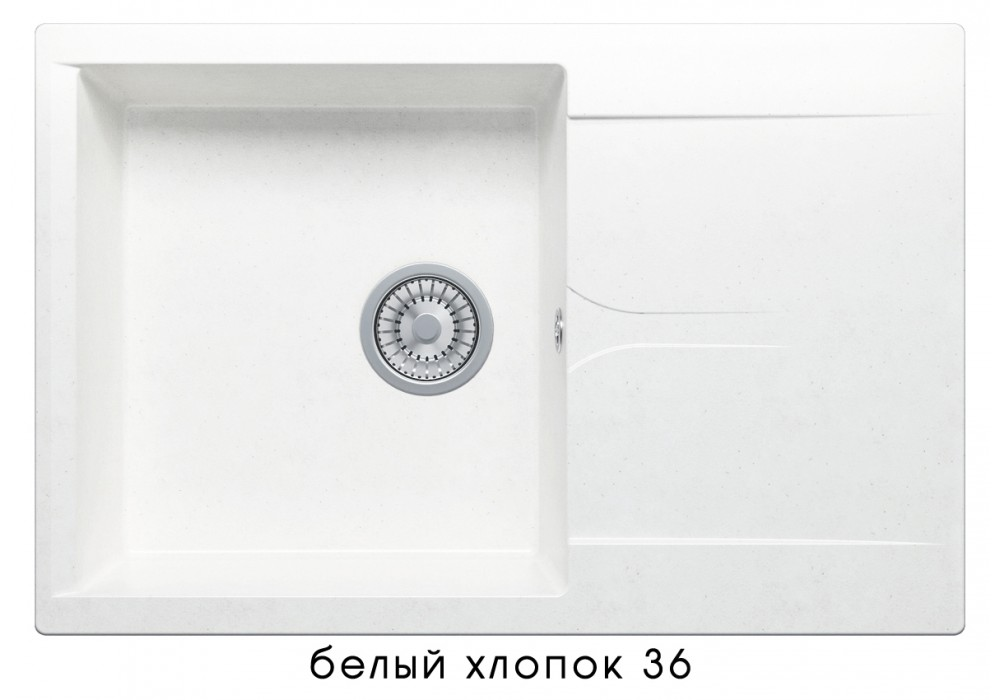 Мойка POLYGRAN GALS-760 №36 белый хлопок