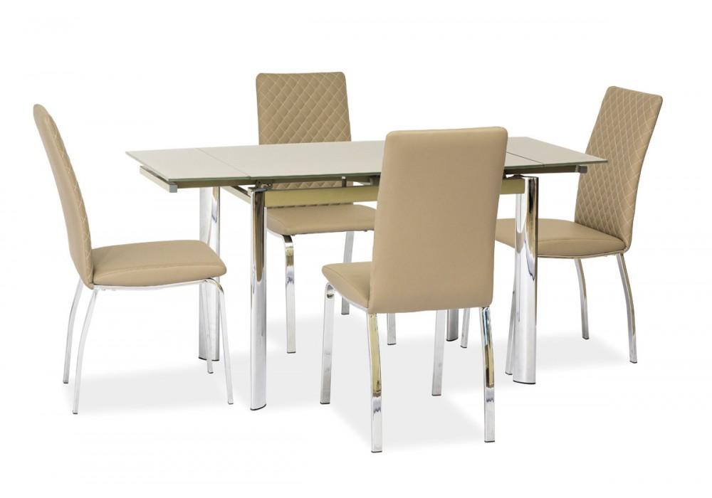 Стол обеденный SIGNAL GD019 т.бежевый 100(150)x70