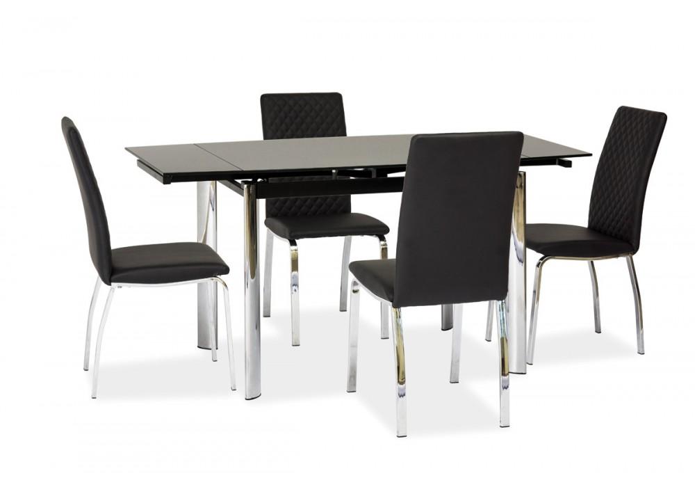 Стол обеденный SIGNAL GD019 черный 70X100