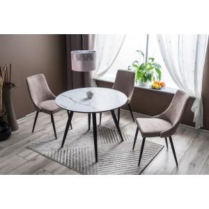 Стол обеденный SIGNAL IDEAL керамический эффект/черный мат, 100/76