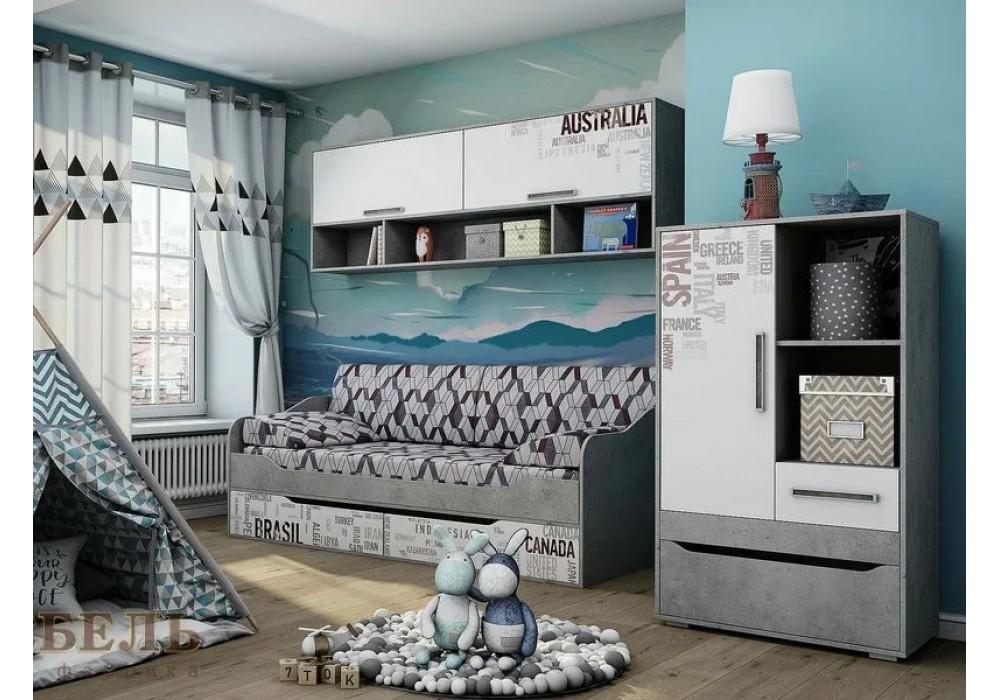 Детская комната МСГРЕЙ Цемент св./Белый (Вариант 1)
