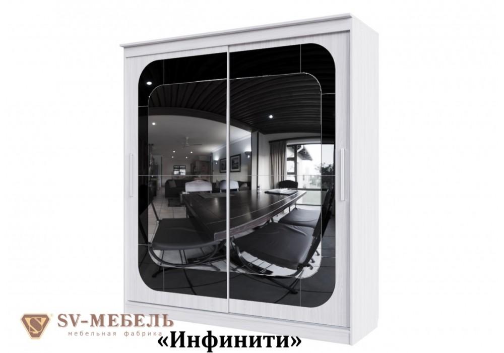 Шкаф-купе SV-МЕБЕЛЬ К №19 Инфинити Ясень Анкор светлый 1,5 м