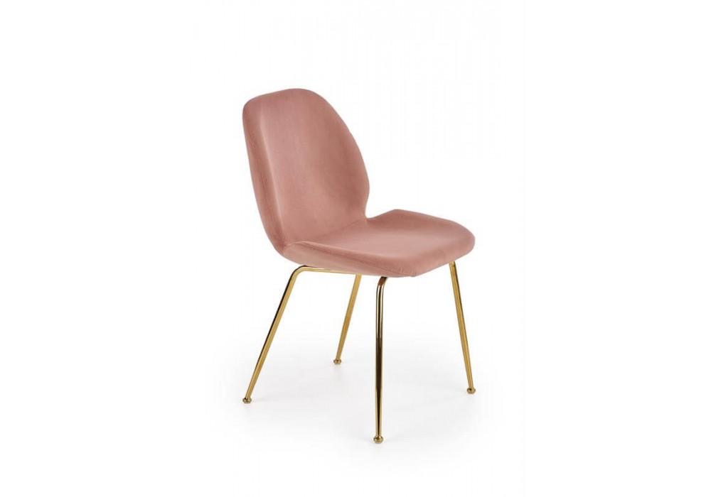 Стул HALMAR K381 (светло-розовый/золотой)