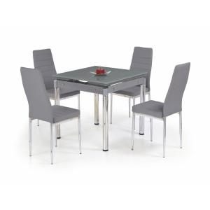 Стол обеденный HALMAR KENT раскладной, серый\хром, 80-130/80/76