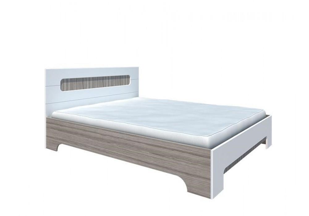 """Кровать 1400 """"Палермо"""" с ортопедическим основанием КР-003 (Белый глянец)"""