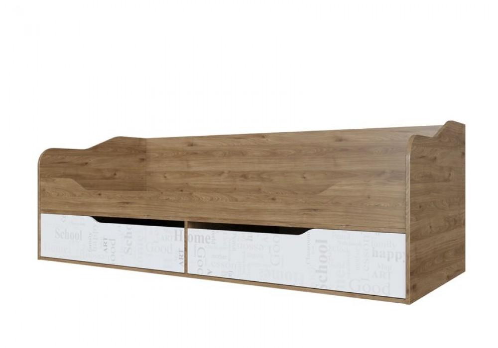 Кровать-диван SV-МЕБЕЛЬ (МС Гарвард) Гикори т./Белый 90/200