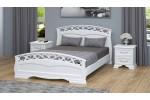"""Кровать """"Грация-1"""" 1400 белый античный"""