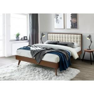 Кровать HALMAR SOLOMO бежевый/орех, 160/200
