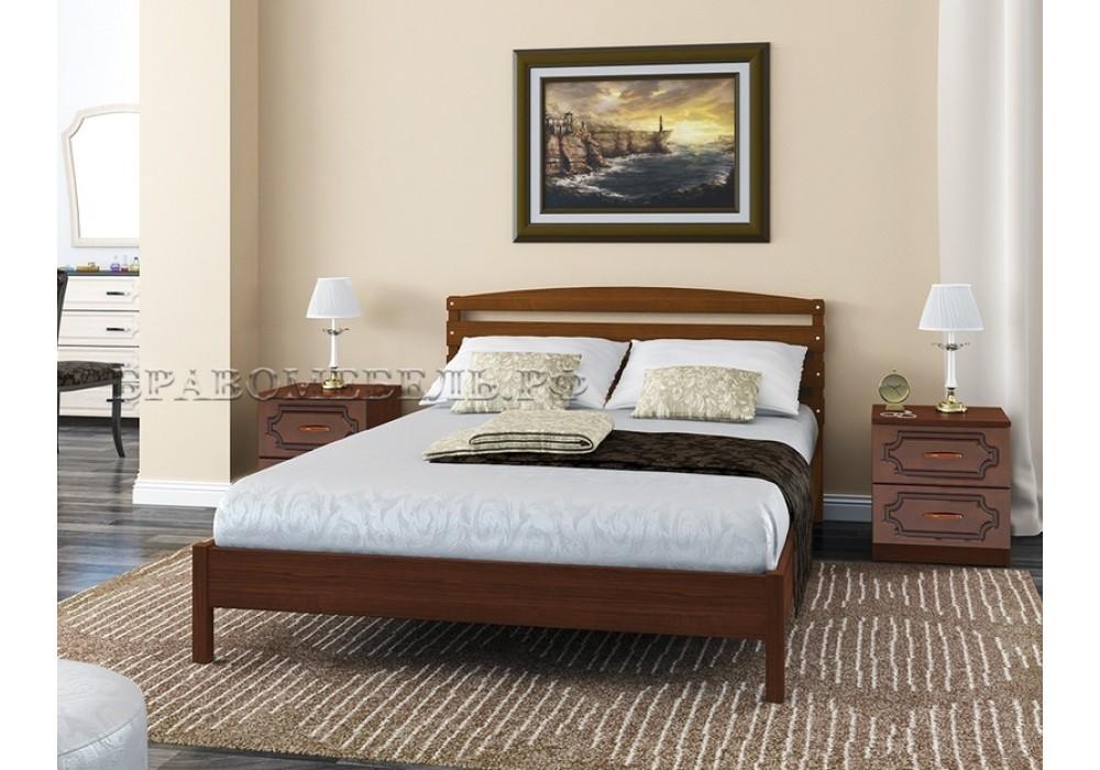 """Кровать """"Камелия-1"""" орех 1600"""