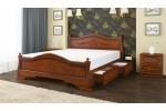 """Кровать """"Карина-1"""" орех с 2 выдвижными ящиками 1600"""