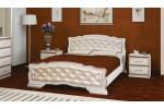 """Кровать """"Карина-10"""" 1600 дуб молочный /светлая"""