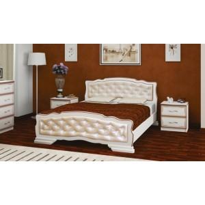 """Кровать """"Карина-10"""" 1400 дуб молочный /светлая"""