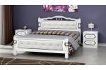 """Кровать """"Карина-11"""" белый жемчуг 1600"""