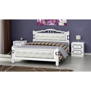 """Кровать """"Карина-11"""" белый жемчуг 1400"""
