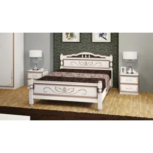 """Кровать """"Карина-5""""  дуб молочный 90х200"""