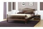"""Кровать """"Карина-5"""" темный орех 1600"""