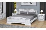 """Кровать """"Карина-6""""  белый жемчуг 1600"""