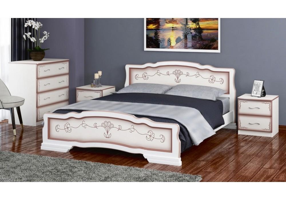"""Кровать """"Карина-6"""" дуб молочный 1800"""