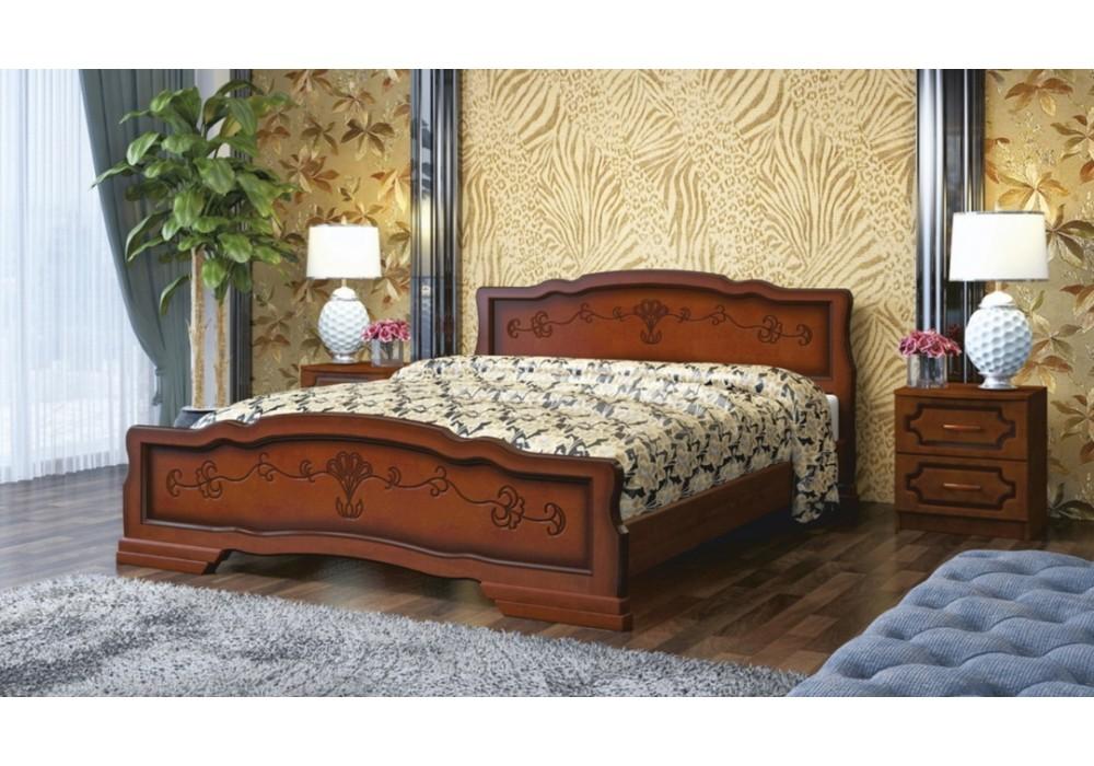 """Кровать """"Карина-6""""   орех 1600"""