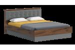 Кровать Мебельград Глазго 160x200 (таксония/пегас грей/графит)