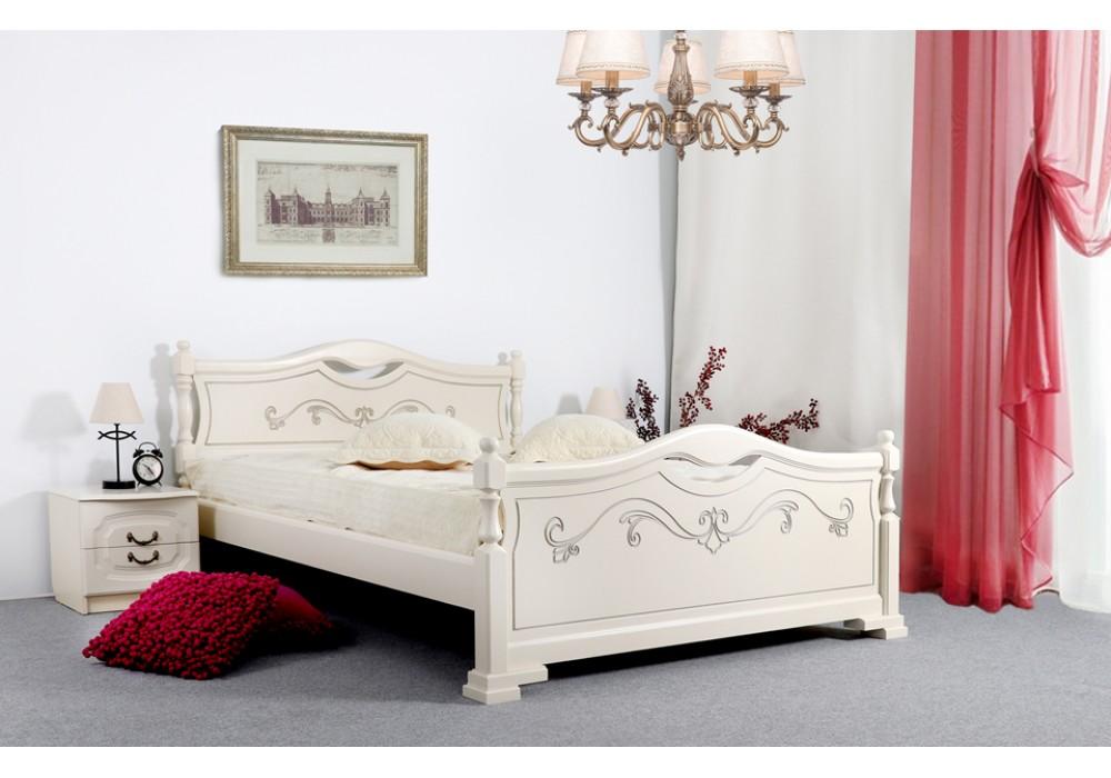 Кровать Мебельград Людмила-16 140x200 (ясень жемчужный с патиной)
