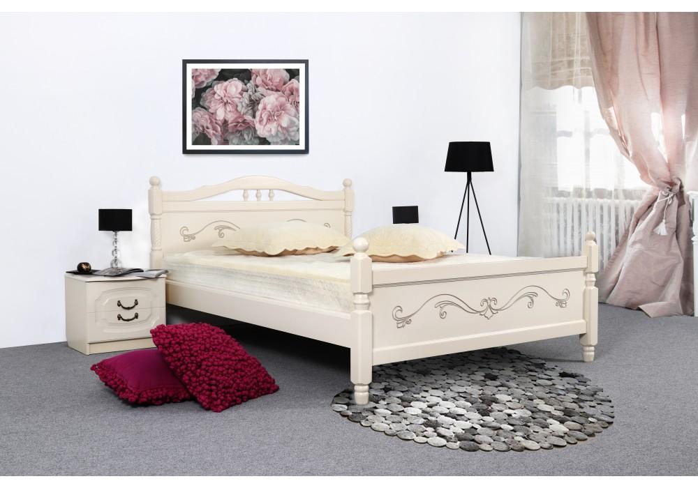 Кровать Мебельград Людмила-17 160x200 (ясень жемчужный с патиной)