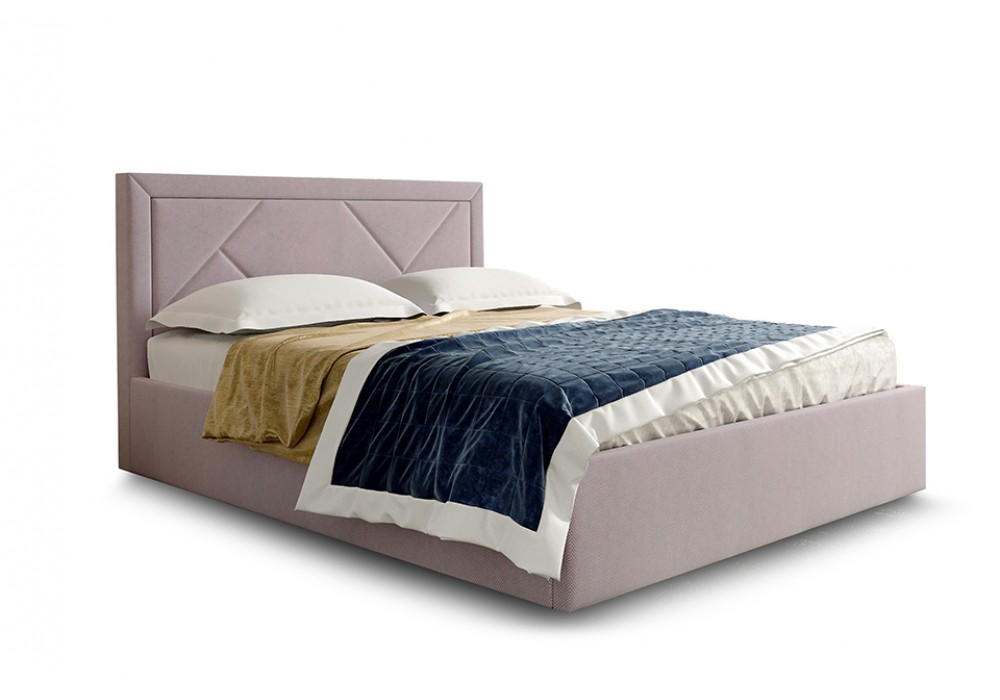 Кровать СИЕСТА 140/200 (Велюр альба розовый)