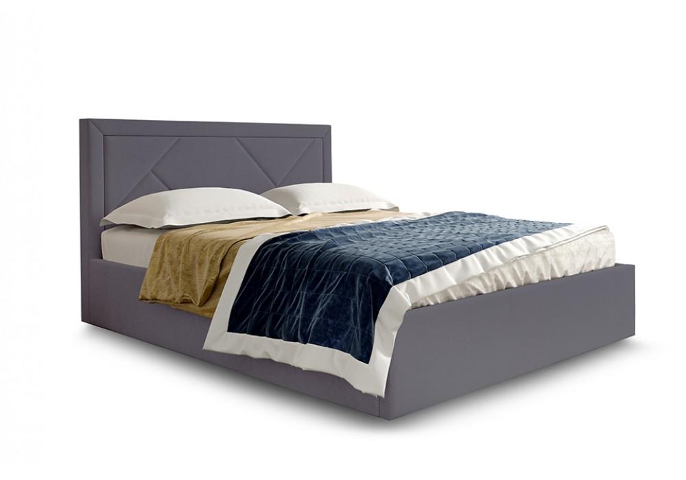 Кровать СИЕСТА 180/200 (Велюр альба темно-серый)