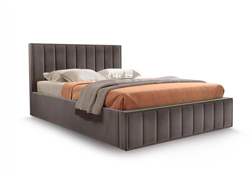 """Кровать """"ВЕНА"""" 160/200 (Велюр мора коричневый)"""
