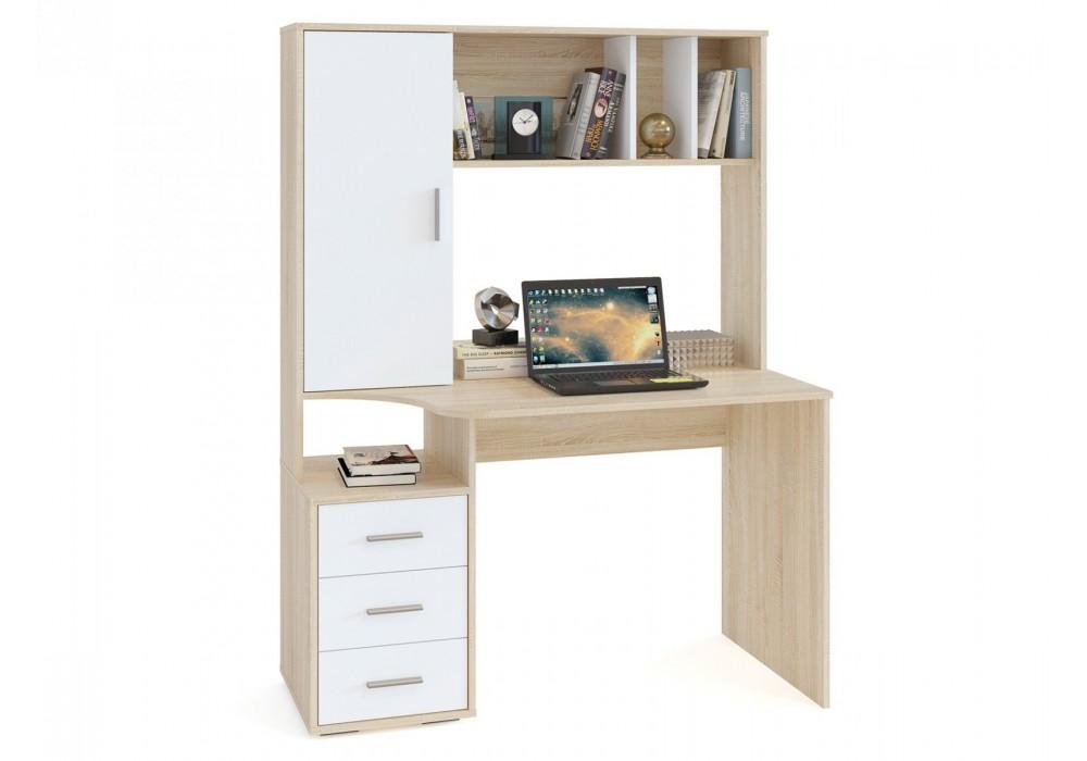 Стол компьютерный Сокол КСТ-16 дуб сонома/белый