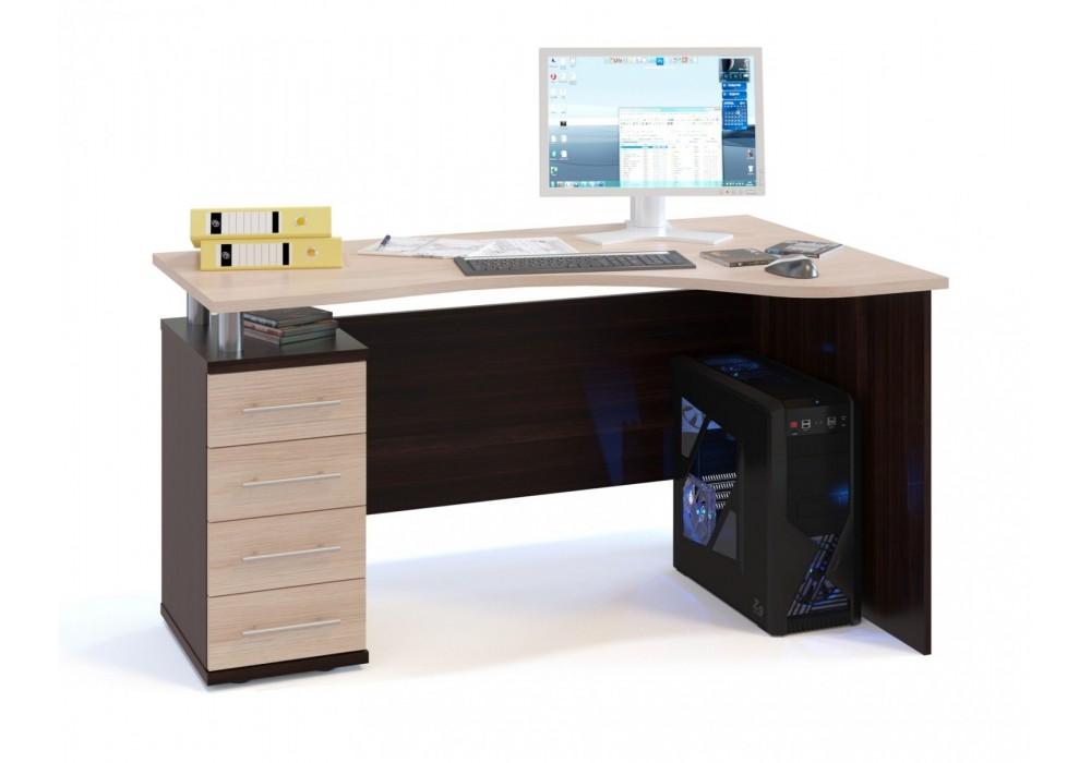 Стол компьютерный Сокол КСТ-104.1 венге/беленый дуб левый