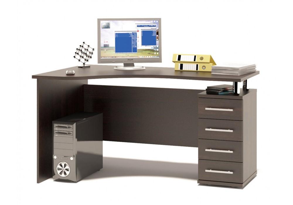 Стол компьютерный Сокол КСТ-104.1 венге правый