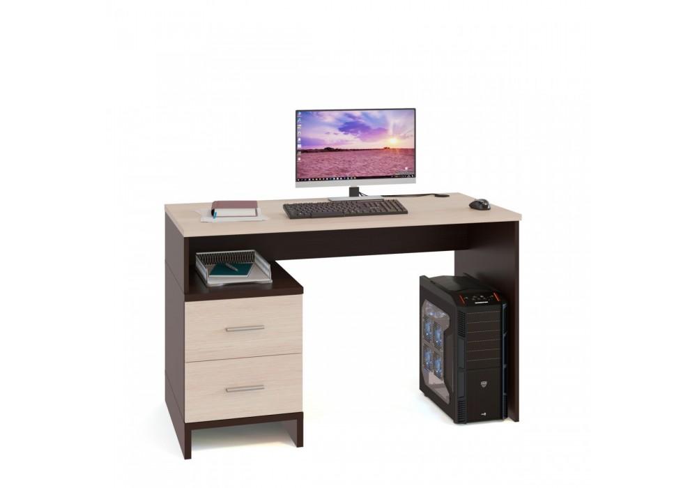 Стол компьютерный Сокол КСТ-114 венге/беленый дуб