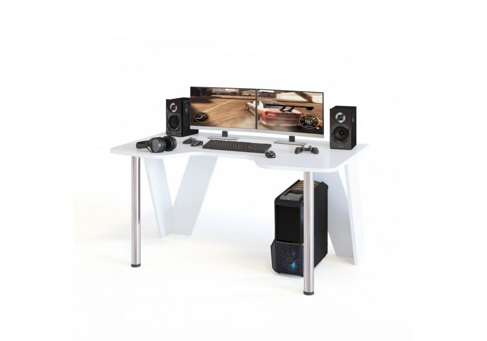 Стол компьютерный Сокол КСТ-116 белый