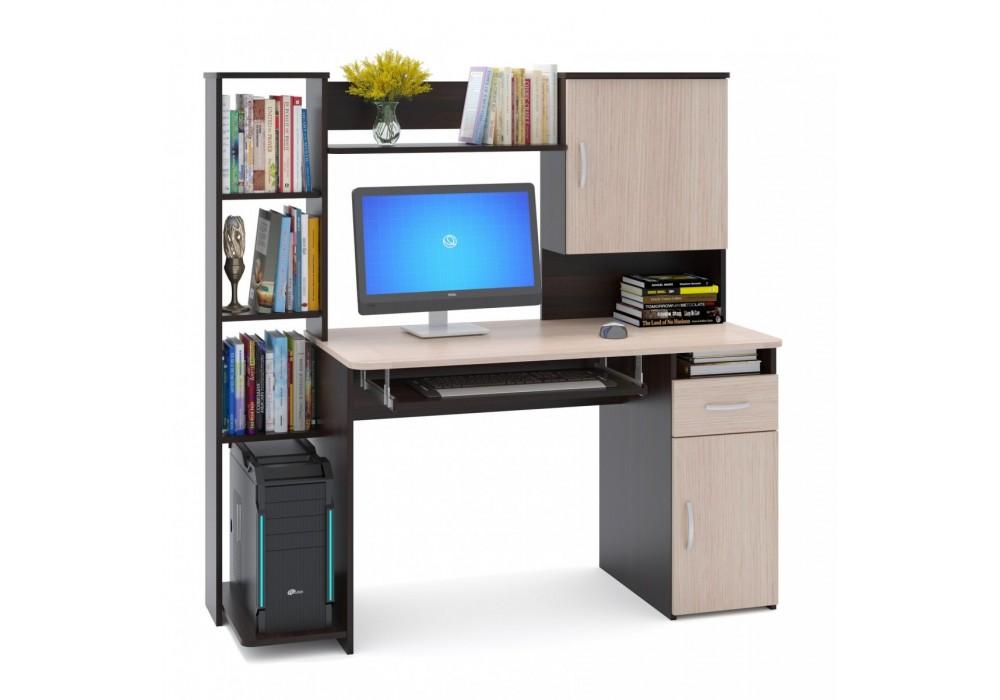 Стол компьютерный Сокол КСТ-11.1 венге/беленый дуб