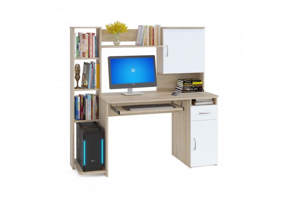 Стол компьютерный Сокол КСТ-11.1 дуб сонома/белый