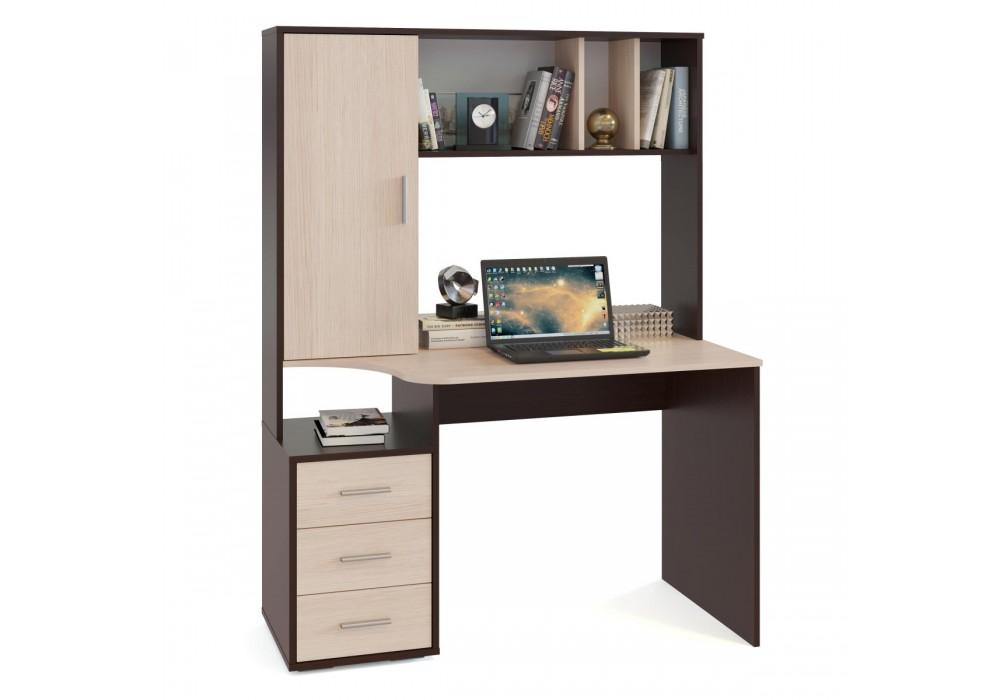 Стол компьютерный Сокол КСТ-16 венге/беленый дуб