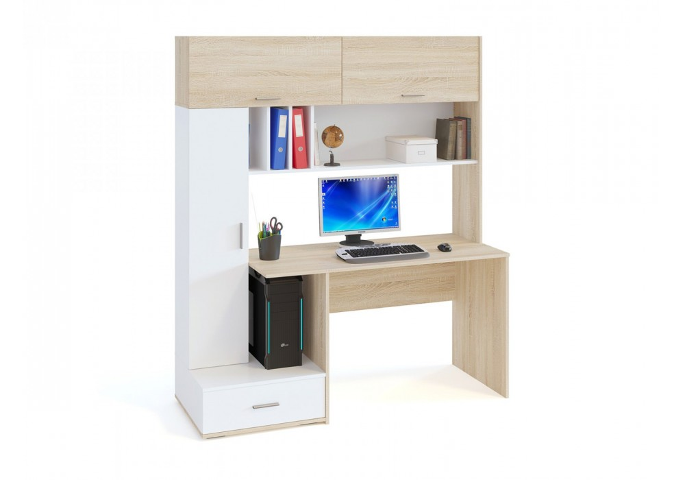 Стол компьютерный Сокол КСТ-17 дуб сонома/белый